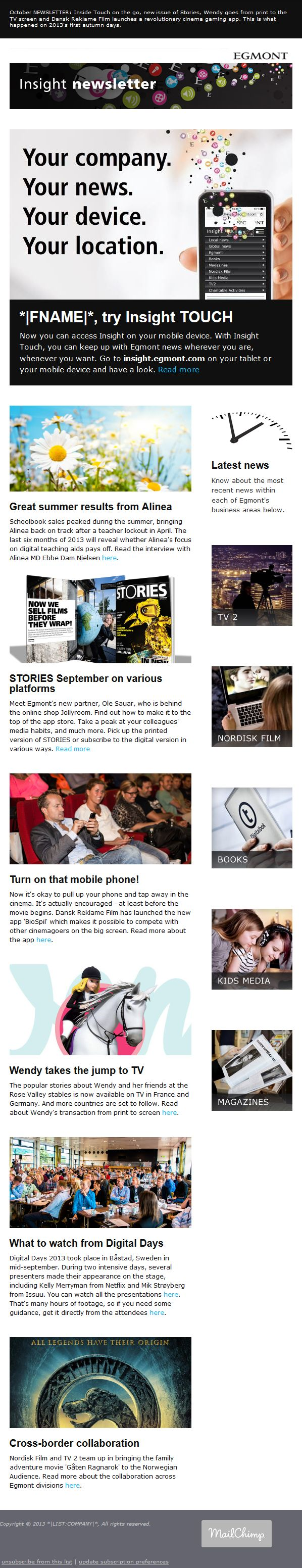 28 best images about Newsletter designs on Pinterest