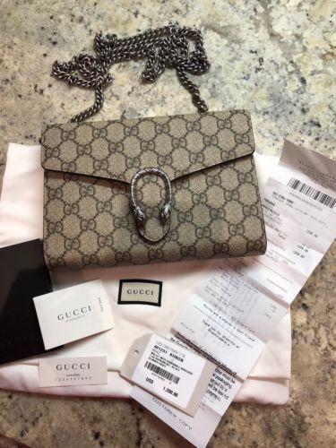 762da843a6c1 Gucci Dionysus WOC Wallet On Chain Beige NWT