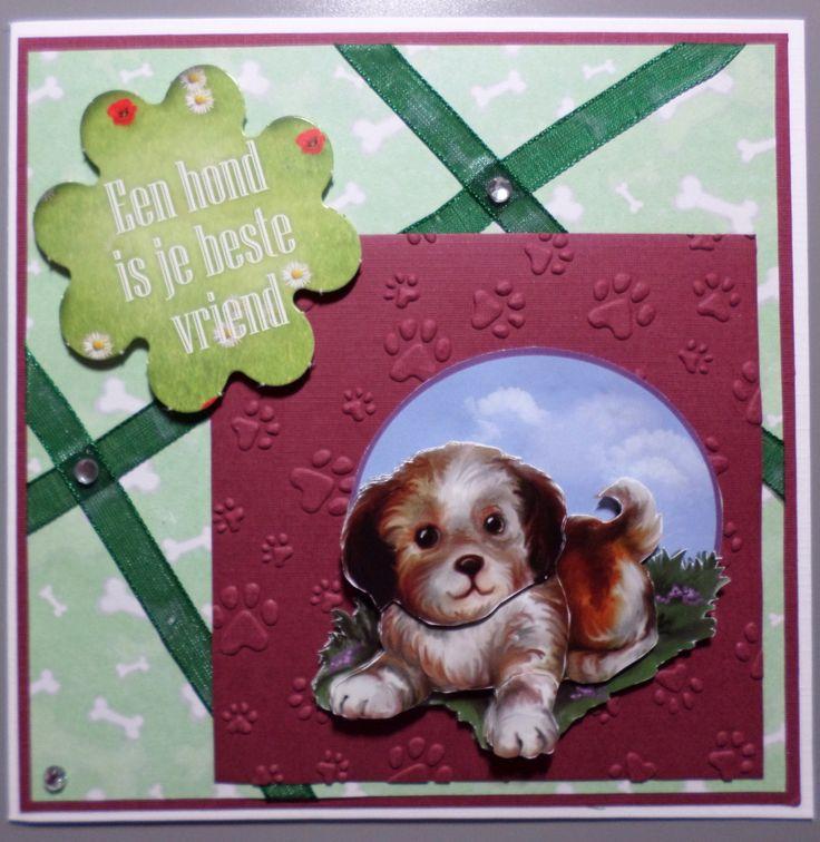 Een hond is je best vriend, kaart met Amy Animal medley