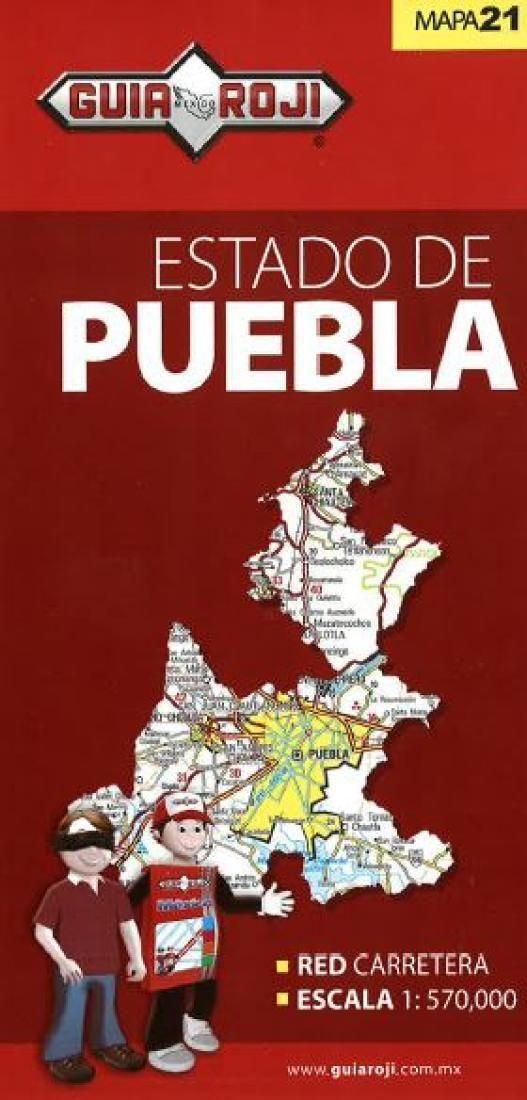 Puebla, Mexico, State Map by Guia Roji