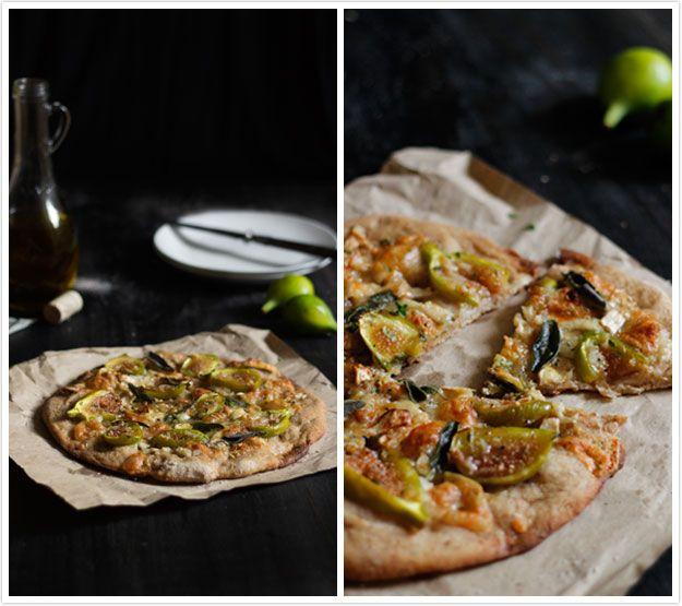 Le Passe Vite: Pizza de Figos, Queijo de Cabra e Ervas