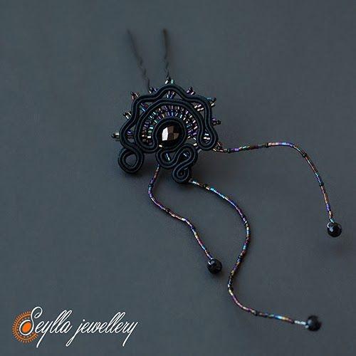 Sutasz soutache Seylla jewellery kokowka #soutache #hair