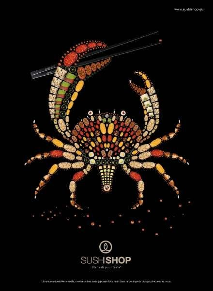 sushi-shop-crabe-comedie. illusion crab