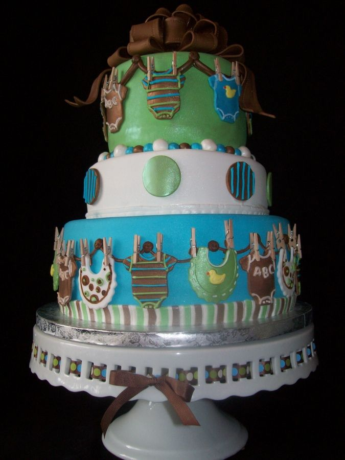 Monkey baby shower ideas for boys ethan baby boy onesie shower cake baby shower baby - Monkey baby shower cakes for boys ...