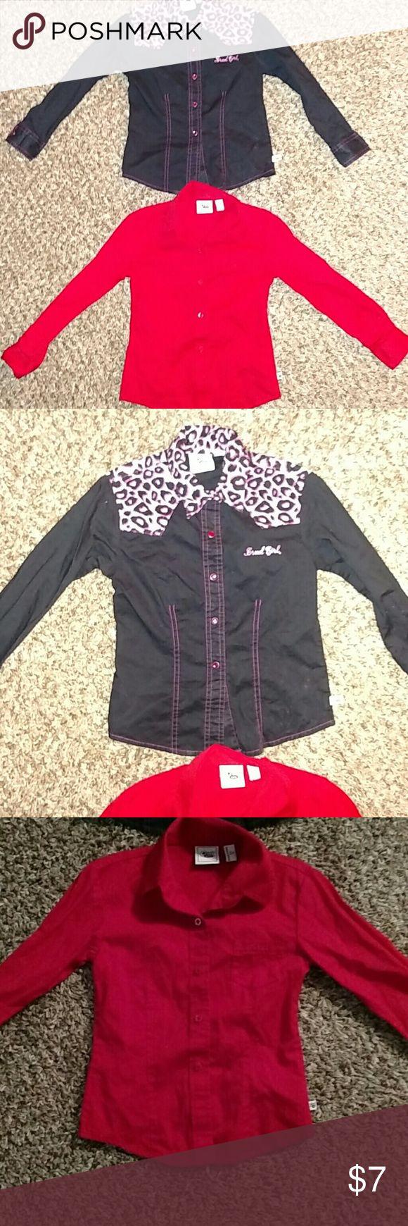Cruel girl shirt bundle Size Xs 4/5. Button up shirt bundle cruel girl  Shirts & Tops Button Down Shirts