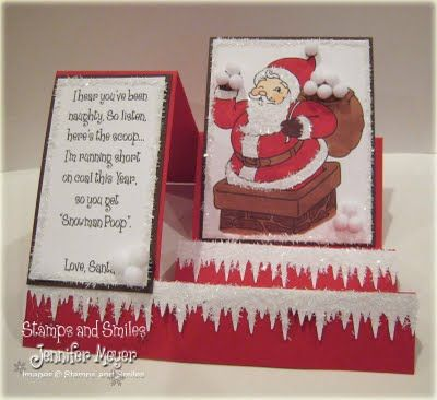 Christmas side step card