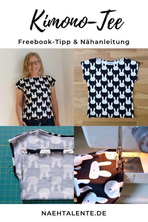 Kimono Tee Nähanleitung Deutsch – Maria Denmark Schnittmuster-Tipp