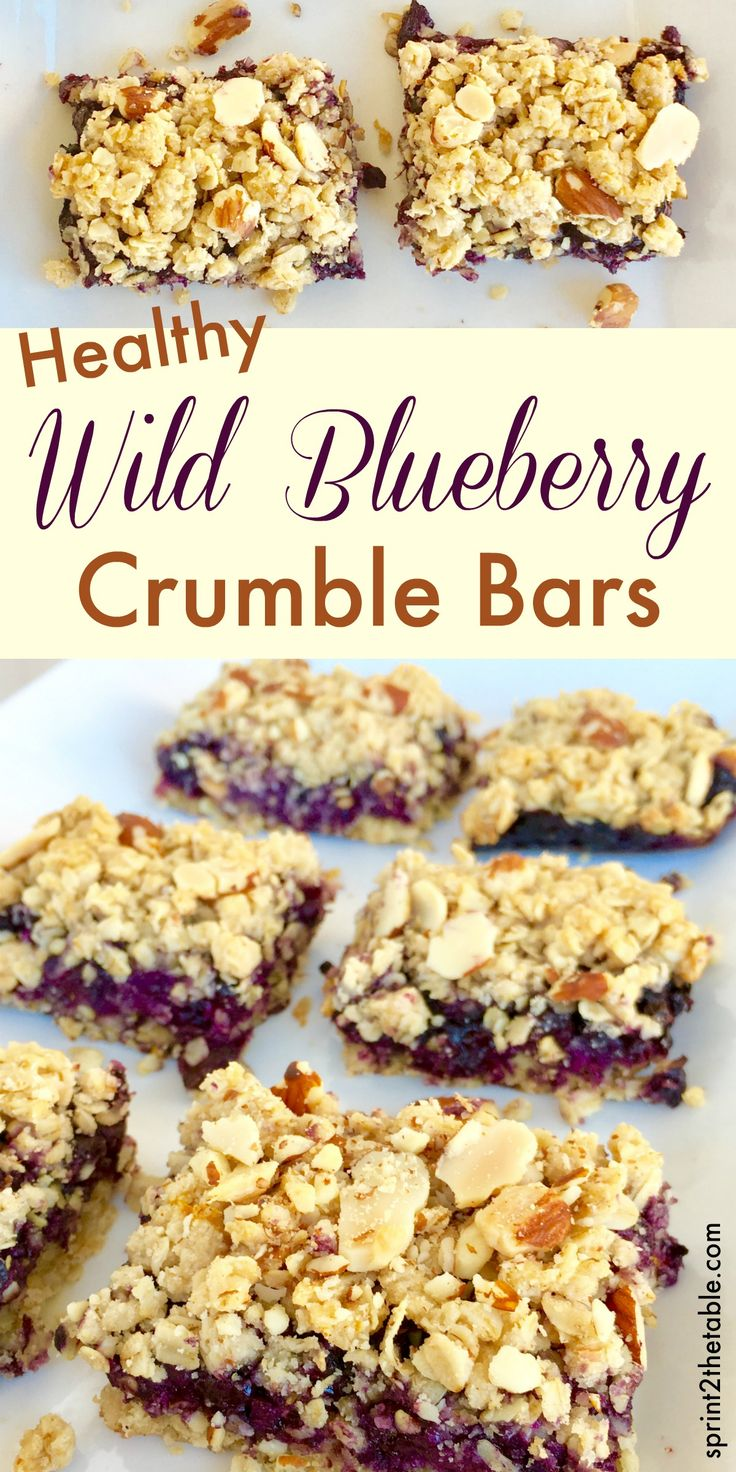 Healthy Wild Blueberry Crumble Bars - these are healthy enough to eat for breakfast but make a fantastic dessert with a scoop of ice cream!