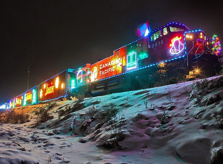 christmas train train with christmas lights - Christmas Light Train