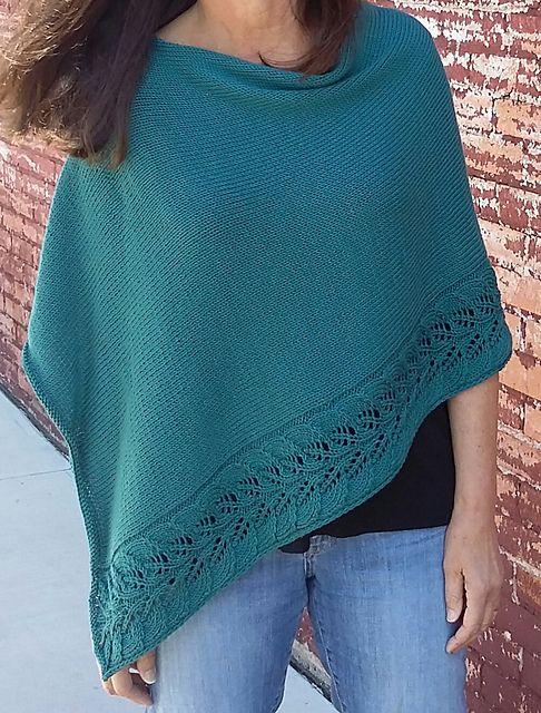 Rosaliette Poncho pattern by Martha Wissing, designed using Berroco Modern Cotton. © Martha Wissing