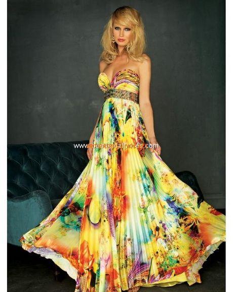 Vestiti floreali lunghi