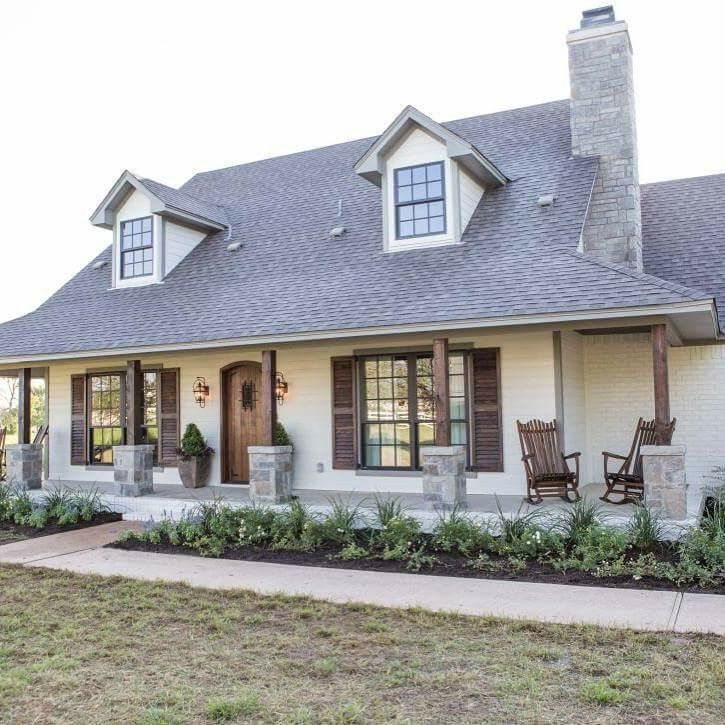 Image result for exterior makeover + painted brick + off