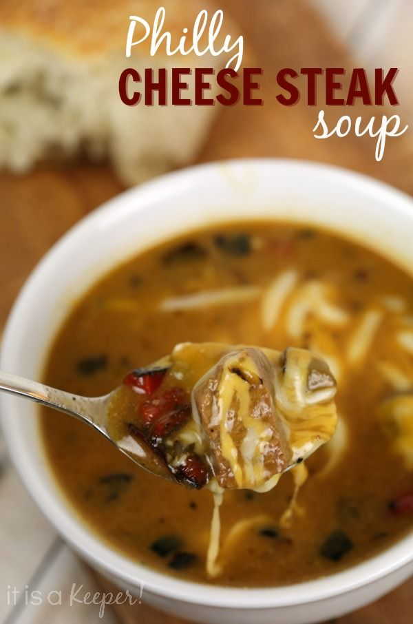 People go crazy for this 30 Minute Philly Cheese Steak Soup.  It's one of my favorite easy recipes.