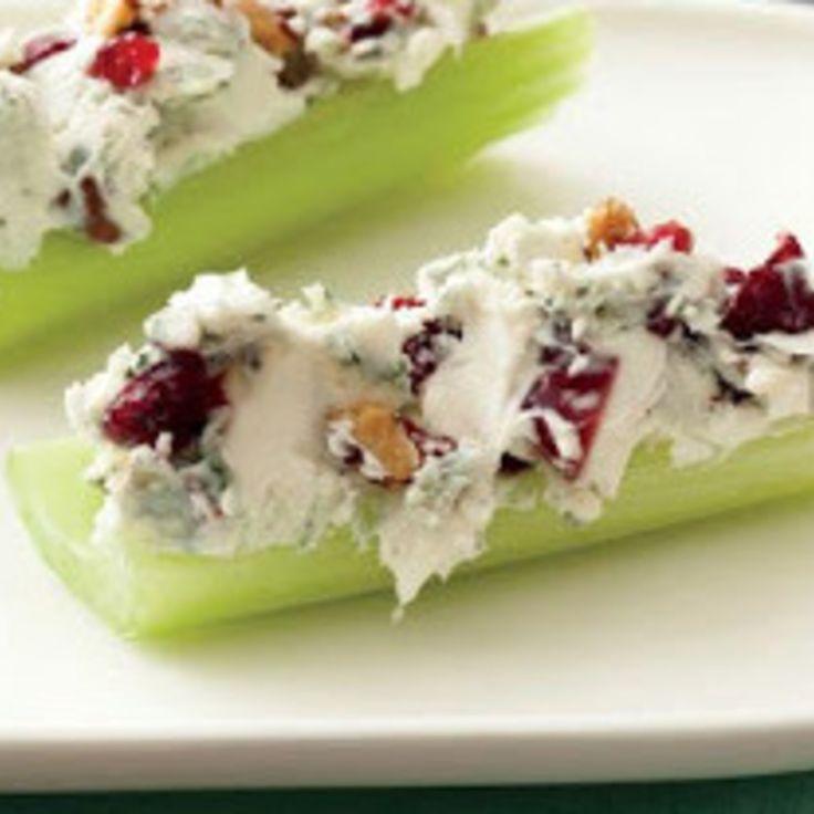 Bacon-Cranberry-Walnut Stuffed Celery Recipe | Just A Pinch Recipes