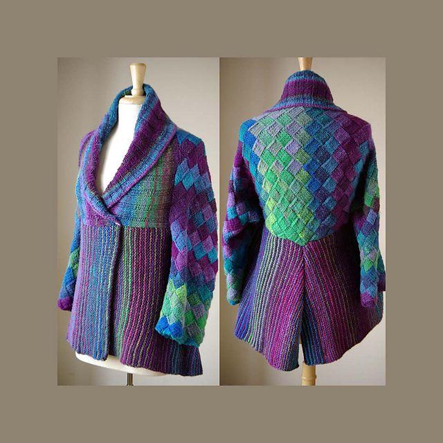 Entrelac Knitting Patterns Sweater : KYOTO JACKETFashion Outfit, Jacket Pattern, Knits Crochet, Irina Poludnenko, ...