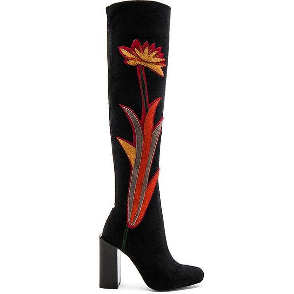 Jeffrey Campbell x REVOLVE Paprika Boots (760.545 COP) ❤ liked on Polyvore featuring shoes, boots, over-the-knee boots, over the knee suede boots, thigh high heel boots, high heel boots, suede thigh high boots and side zip boots