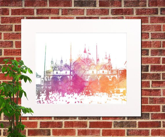 St Marks Square Venice City Abstract Art Venice by ArtPrints4All