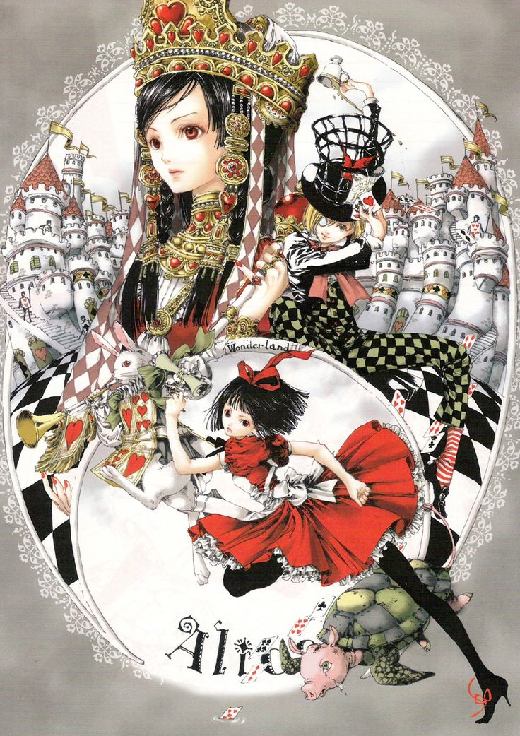 alice & queen of hearts by tukiji nao, an amazing japanese doujinshi manga artist who specializes in dreamy ethereal fairy girls.