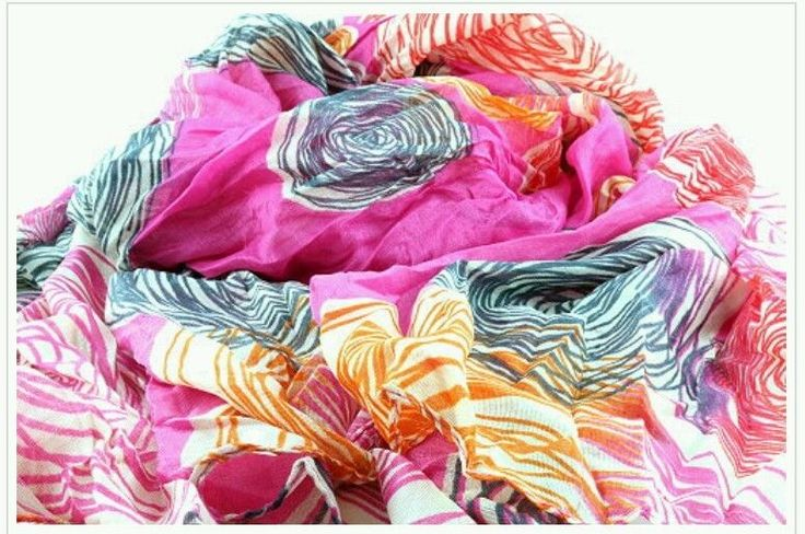 ladies woman's Abstract Crinkled Scarf sarong maxi hijab shawl casual party wear