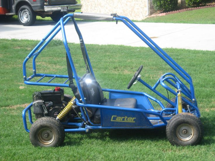 Up FOR SALE Carter 2 Seater Go Kart Blue 6.5hp #Carter  Works RUNS Gonna need a new belt soon..take a look at pics tell a friend..
