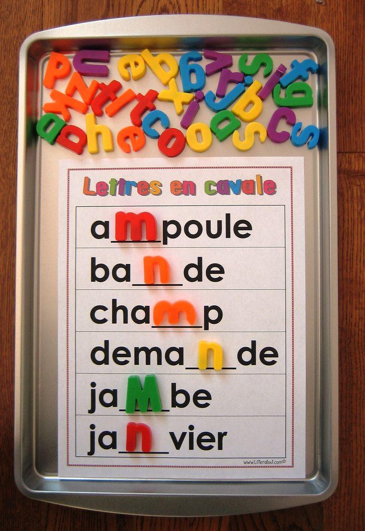 Activité d'étude de mots Lettres en cavale : cette activité invite l'élève à lire et compléter des mots d'usage courant dont une ou plusieurs lettres sont manquantes, et ce à l'aide de lettres magnétiques. Avec des pratiques fréquentes, l'élève pourra s'approprier les mots à l'étude et en assimiler l'orthographe pour s'en servir en écriture. Document modifiable!