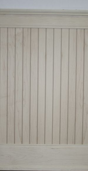 Beach House 7' Whitewashed Beadboard Wainscoting throughout House with Picture Rail Cap