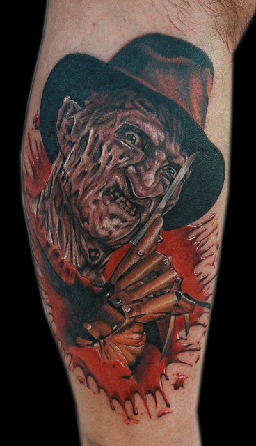 Freddy Krueger - Done with Dragonfly tattoo machines Fusion Ink and needles from Glove for the Artist