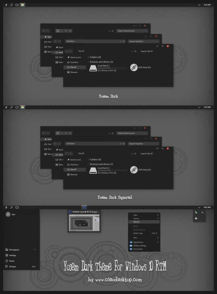 Yosem Dark Theme For Windows 10 RTM by Cleodesktop