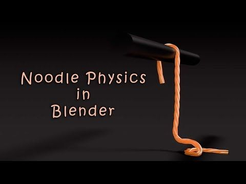 Quick Noodle Physics in Blender Tutorial - YouTube