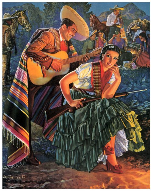 "José Antonio Gómez Rosas (1916–1977). ""La Adelita"" came to be an archetype of a woman warrior during the Mexican Revolution (ca. 1910-1920). An Adelita was a ""soldadera"" - a woman soldier."