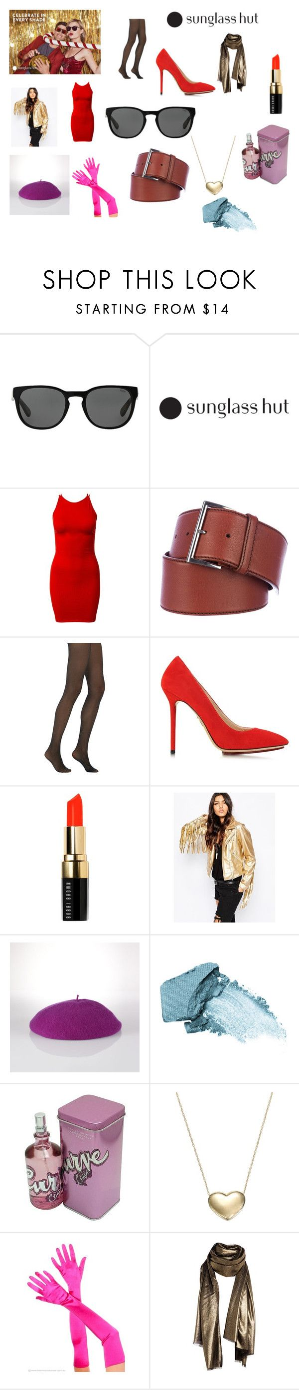 """Celebrate in Every Shade with Sunglass Hut 7"" by chrisone ❤ liked on Polyvore featuring Polo Ralph Lauren, Motel, Prada, Fogal, Charlotte Olympia, Bobbi Brown Cosmetics, Ralph Lauren, Stila, Liz Claiborne and Signature Gold"