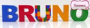 Letras 3D - Lego