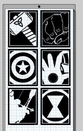 C'est la collection des 6 héros de the Avengers comprenant Captain America, Thor, Iron Man, Hulk, Black Widow et Hawkeye. Ces fichiers sont regroupés pour un grand prix. Imprimer ces qu'ils sont ou les redimensionner. Cela va prendre quelques compétences de redimensionner tous les mêmes ou d'acheter les fichiers séparément pour s'adapter à un sur un 12 x 24.  Cest le fichier que vous pouvez utiliser pour couper vos propres vinyles de la Silhouette de Cameo ou autre coupeur de camée. Il sagit…
