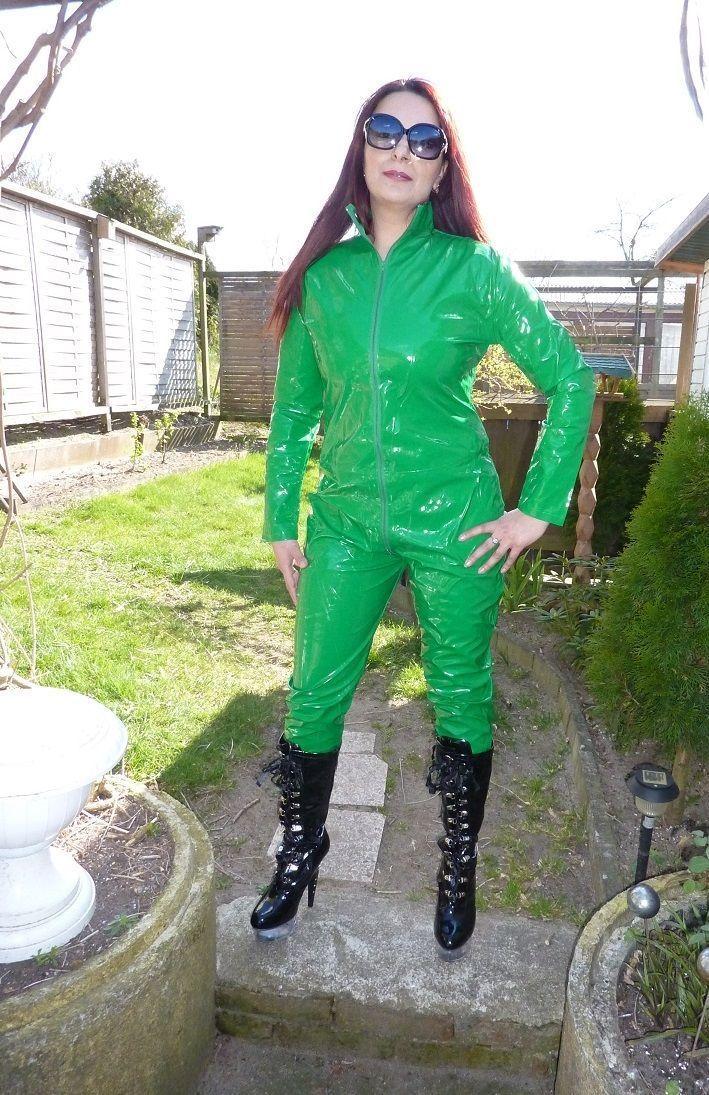 PVC catsuit - but would prefer a different colour!