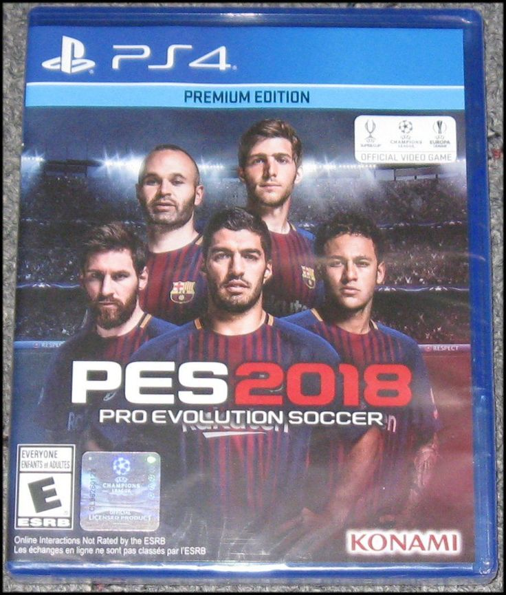 PES 2018: Pro Evolution Soccer - Premium Edition - PlayStation 4 - PS4 - New: $44.95 End Date: Monday Dec-11-2017 21:09:04 PST Buy It Now…