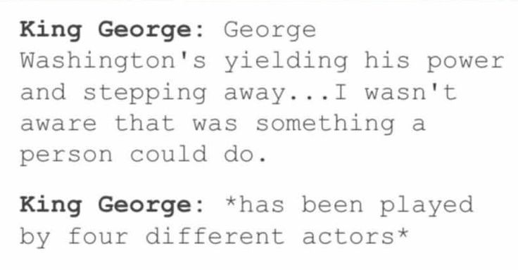 I love all four king george the thirds
