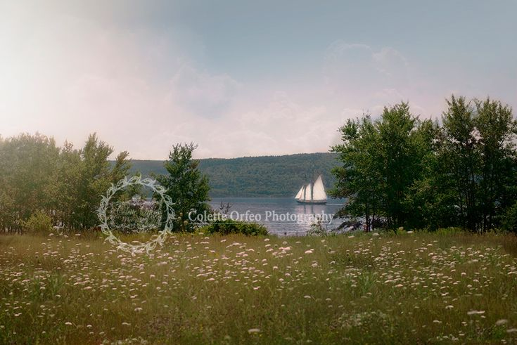 Tall Ship Photography Backdrop. For the ship lover, a view of a tall ship leaving from the Strait of Canso, Port Hawkesbury, NS. To order backdrop visit www.backdropscanada.ca