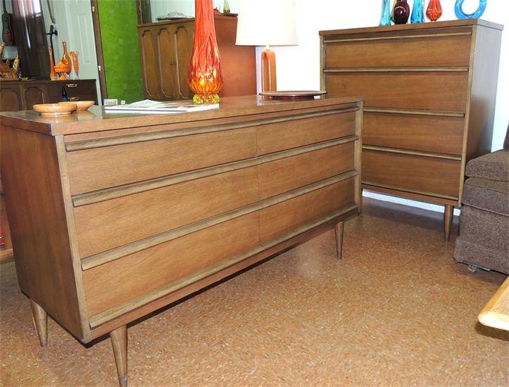 Bassett mid century modern bedroom dressers mid century modern furniture pinterest modern for Mid century modern bedroom set