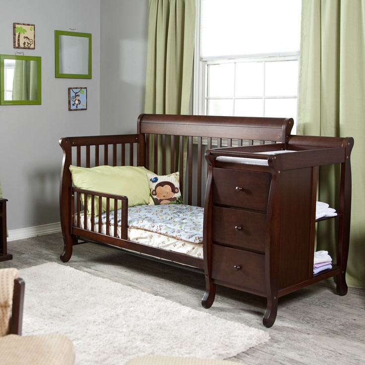 Convertible crib and changing table little people Baby crib with changing table