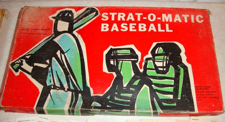 1962 stratomatic baseball game team cards from 1972