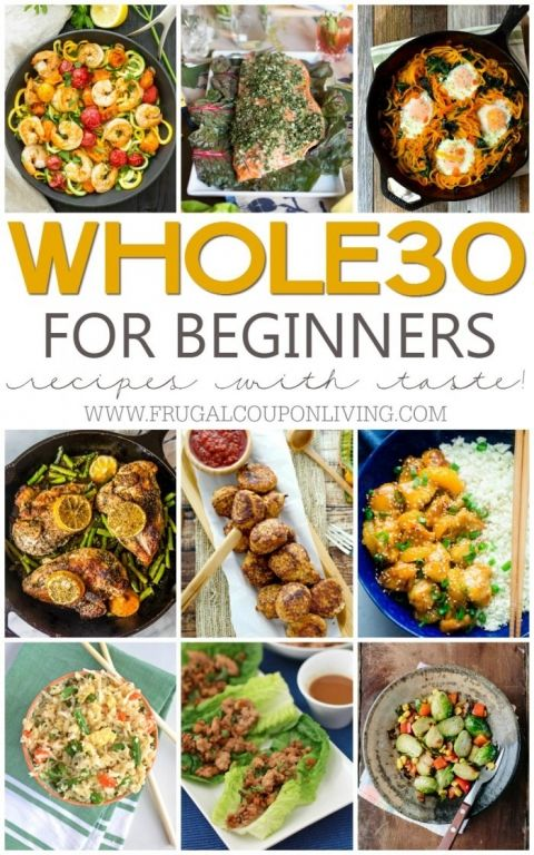 The Ultimate List of Whole30 Recipes for Beginners on Frugal Coupon Living. Clean and detox in 30 days eating meat, seafood, vegetables, nuts and more.