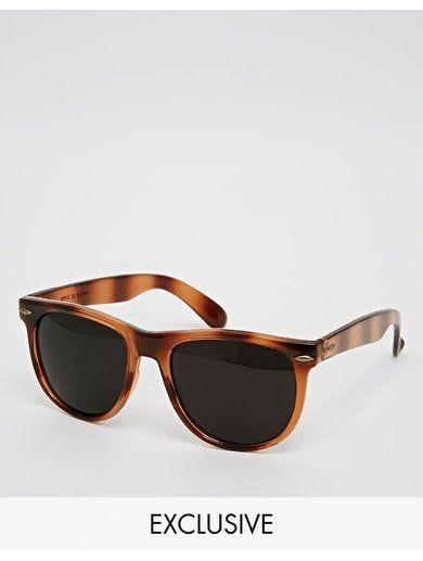 Reclaimed Vintage Wayfarer Sunglasses - Brown