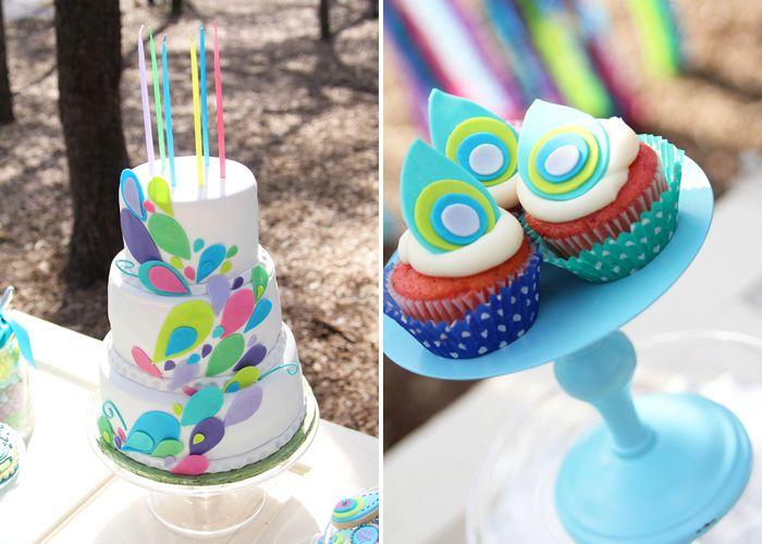 Peacock Birthday PartyAmy Atlas, Peacocks Cake, Birthday Parties, Peacocks Birthday, Peacocks Parties, Parties Ideas, Atlas Events, Peacocks Theme, Birthday Ideas
