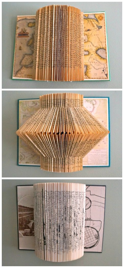 book page folding art instructions