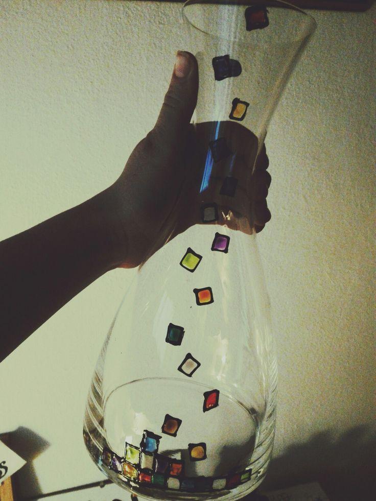 #handmade #caraffa #art #glass #Kristinaart