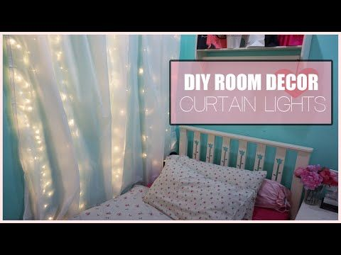 DIY Room Decor Curtain Lights, Would Look Really Cool And Beautiful In A Tinkerbell  Bedroom