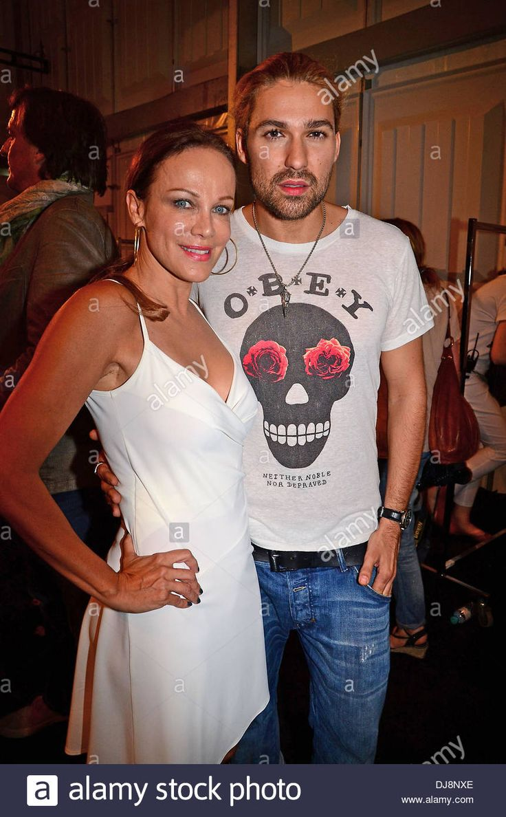 sonja kirchberger and david garrett backstage at minx fashion show 2013