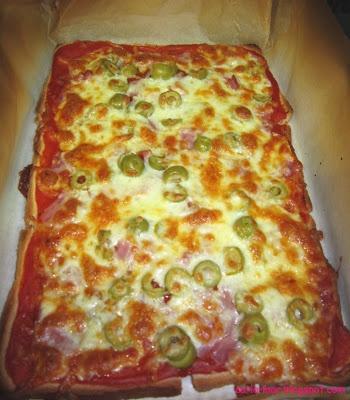 Pizza con pan de molde