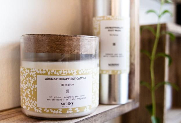 Mirins Copenhagen Natural Skincare | Recharge Candle and Body Wash with Lemon and Ginger