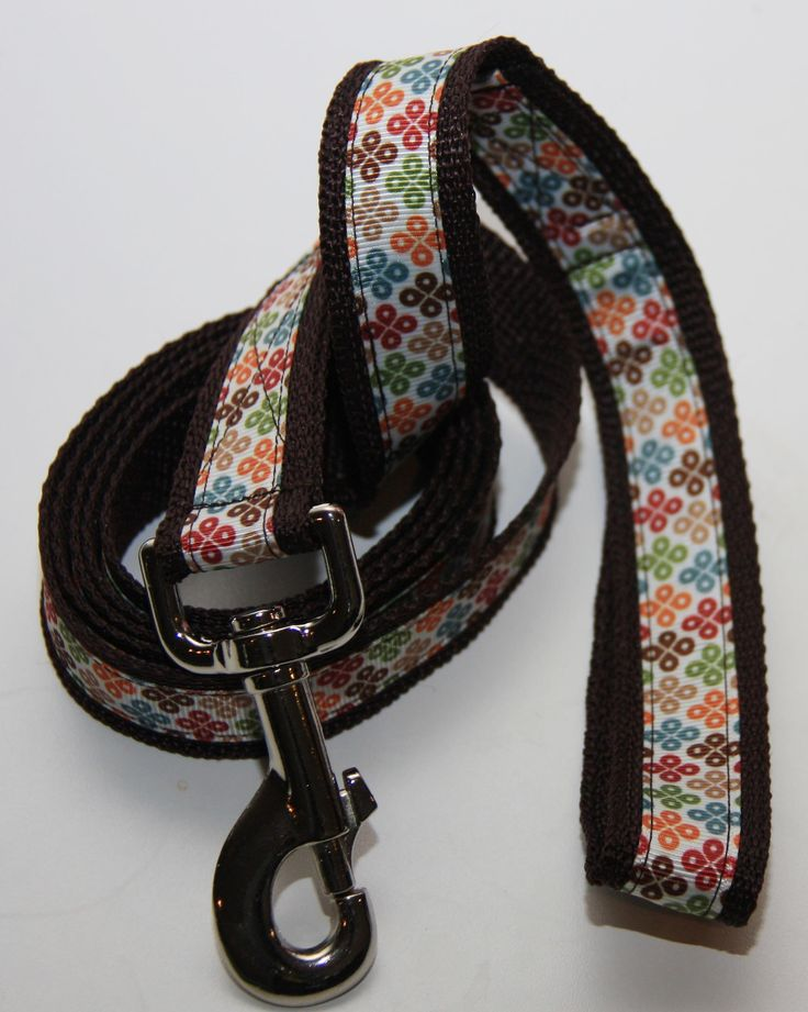 """Rainbow Raindrops 1"""" Dog Leash. $18.00. Find Bonzai Gifts on facebook for more!"""